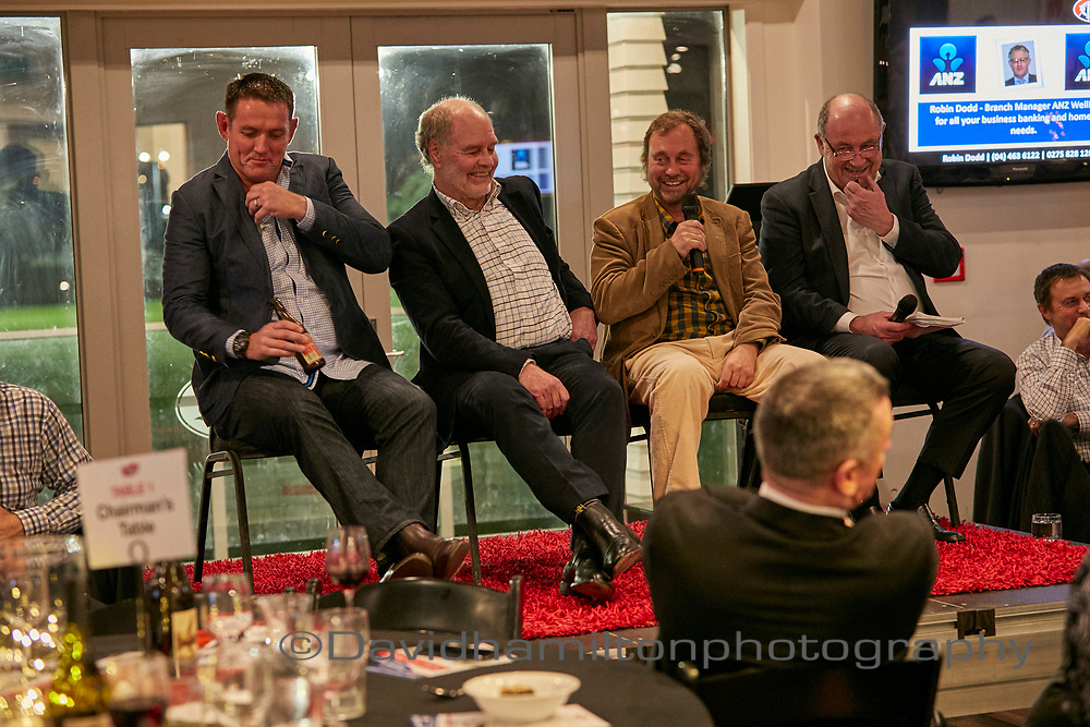 P Poneke Rugby Gala dinner 2017, Wayne Smith, All Black Coach, Mark Reason, John Taylor (AKA Basil Brush) , Jim Kayes, Lion's Vs All Blacks 2017, Grant Nisbit.
