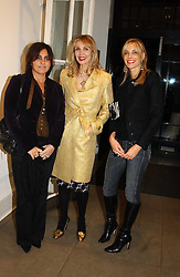 Left to right, SOLANGE AZAGURY-PARTRIDGE, ALLEGRA HICKS and KIM HERSOV at 'A Night at Crumbland' an evening to celebrate the launch of the Stella McCartnry and Robert Crumb collaboration aand the publication of the R.Crumb handbook, held at Stella McCartney, 30 Bruton Street, London W1 on 17th March 2005.<br /><br />NON EXCLUSIVE - WORLD RIGHTS