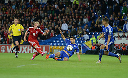 Wales Jonathan Williams shoots at goal.  - Photo mandatory by-line: Alex James/JMP - Mobile: 07966 386802 - 10/10/2014 - SPORT - Football - Cardiff - Cardiff City Stadium - Wales v Bosnia and Herzegovina - EURO 2016 Qualifiers