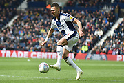 West Bromwich Albion defender Kieran Gibbs (3) controls the ball during the EFL Sky Bet Championship match between West Bromwich Albion and Rotherham United at The Hawthorns, West Bromwich, England on 27 April 2019.