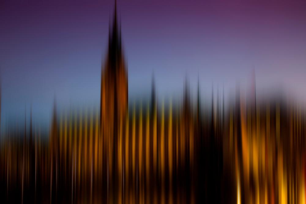 Blurry Sky Fine Art Series - Skyline View City Hall in Hamburg, Germany