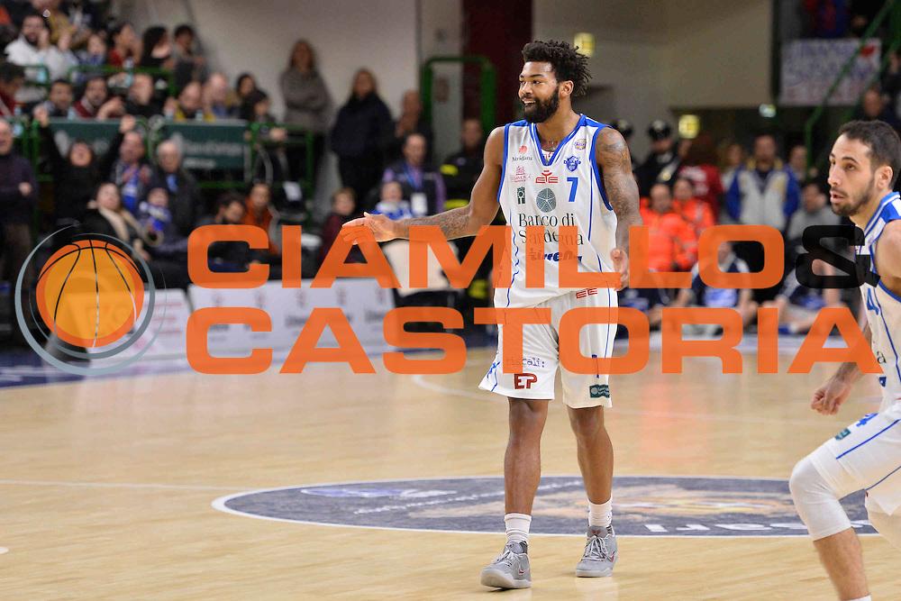 SASSARI 08 GENNAIO 2017<br /> LegaBasket Serie A 2016/2017<br /> Dinamo Banco di Sardegna Sassari - Pasta Reggia Juve Caserta<br /> NELLA FOTO Travor Lacey<br /> FOTO CIAMILLO