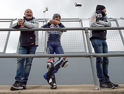 October 26, 2018 - Melbourne, Victoria, Australia - Spanish rider Jorge Martin (#88) of Del Conca Gresini Moto3 on the pit wall with members of his team during day 2 of the 2018 Australian MotoGP held at Phillip Island, Australia. (Credit Image: © Theo Karanikos/ZUMA Wire)