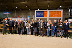Groepsfoto<br /> Huldiging fokkerij stimuleringsplan <br /> KWPN Hengstenkeuring - 's Hertogenbosch 2016<br /> © Hippo Foto - Dirk Caremans<br /> 06/02/16