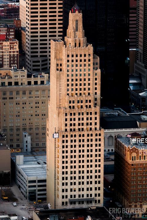 Kansas CIty Power & Light Building - historic art deco skyscraper undergoing renovation into apartments.