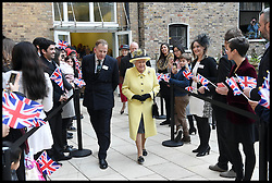 Image ©Licensed to i-Images Picture Agency. 01/12/2016. London, United Kingdom. The Queen Visits Goodenough college. <br /> <br /> Queen Elizabeth II visits Goodenough College on December 1, 2016 in London, England. Goodenough College is the leading residential community for British and international postgraduate students studying in London.<br /> <br /> <br /> Picture by i-Images / Pool