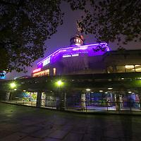 Pancreatic Cancer UK;<br /> Purple lights for Hope;<br /> Southbank, London;<br /> 1st November 2015.<br /> <br /> © Pete Jones<br /> pete@pjproductions.co.uk