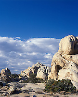 Joshua Tree National Park California.  Monzogranite rock formation