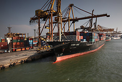 SRI LANKA COLOMBO 19MAR13 - Container ships docked at the terminal in the port of Colombo, Sri Lanka. Colombo is the largest city and the commercial, industrial and cultural capital of Sri Lanka with a population of about 750,000 inhabitants.<br /> <br /> jre/Photo by Jiri Rezac<br /> <br /> © Jiri Rezac 2013