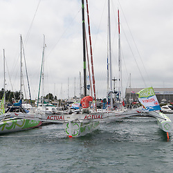 June 2013, Plymouth, La route des princes<br /> <br /> The Route des Princes, took place between 5th and 30th June 2013. Open to all multihulls of 50 ft and over, this race is a tour of Europe that focuses on the regional and the local, taking a dozen crews from Valencia, in Spain, to the Bay of Morlaix, in Brittany, via Lisbon (Portugal), Dublin-Dún Laoghaire (Ireland) and Plymouth (Great Britain). It covers a total of 3,045 nautical miles