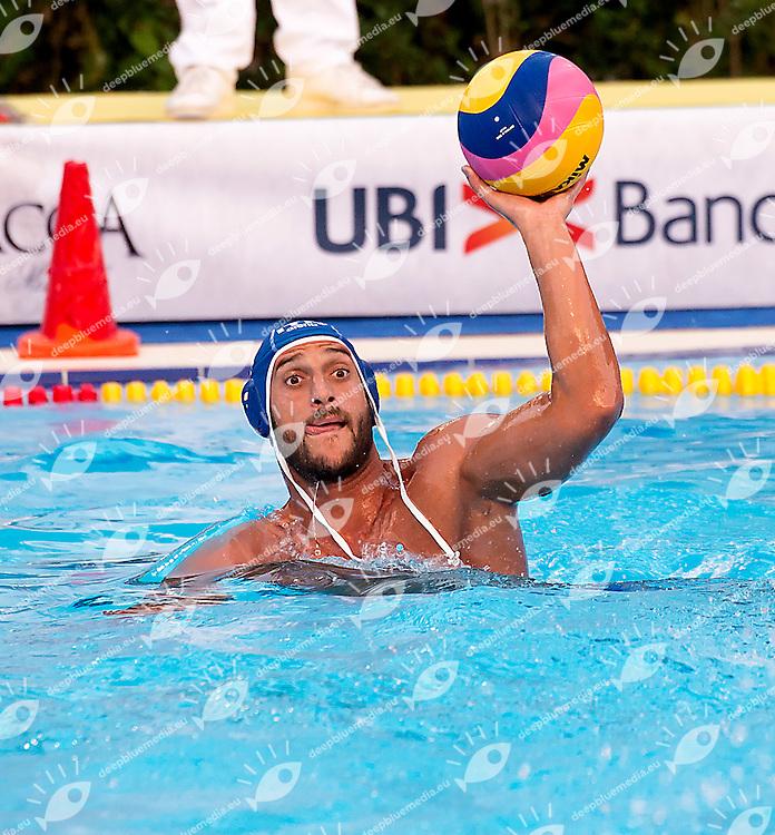 8 GALLO Valentino ITA<br /> Serbia SRB (white) - Italy ITA (blue)<br /> day 02 - 24/06/2015<br /> FINA Water Polo World League Superfinal Men<br /> Bergamo (ITA) 23-28 June 2015<br /> Photo G.Scala/Deepbluemedia