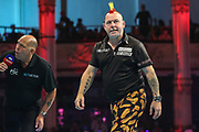 Peter Wright during the BetVictor World Matchplay Darts 2018 semi final at Winter Gardens, Blackpool, United Kingdom on 28 July 2018. Picture by Shane Healey.