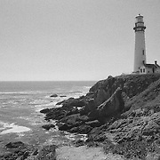Pigeon Point Lighthouse - North Santa Cruz County, CA - Black & White