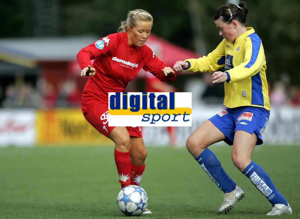 Fotball<br /> Toppserien kvinner 2006<br /> 07.10.2006<br /> R&oslash;a v Trondheims-&Oslash;rn 0-1<br /> Foto: Morten Olsen, Digitalsport<br /> <br /> Lene Mykj&aring;land - R&oslash;a<br /> Lene Tronseth - &Oslash;rn