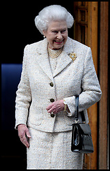 HM The Queen leaves  The London Clinic after visiting her Husband The Duke of Edinburgh in hospital at The London Clinic in London, on his 92nd Birthday, Monday, 10th June 2013<br /> Picture by Andrew Parsons / i-Images