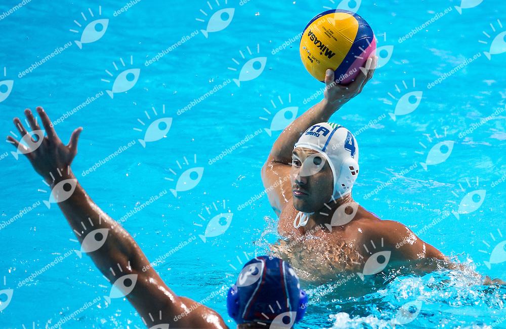 FIGLIOLI PieTro ITA GOCIC Zivko SRB<br /> ITALY vs SERBIA<br /> ITA vs SRB<br /> Waterpolo - Men's semifinal<br /> Day 14 06/08/2015<br /> XVI FINA World Championships Aquatics Swimming<br /> Kazan Tatarstan RUS July 24 - Aug. 9 2015 <br /> Photo Giorgio Perottino/Deepbluemedia/Insidefoto