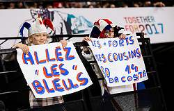 Fans of France during the 2017 IIHF Men's World Championship group B Ice hockey match between National Teams of Norway and France, on May 6, 2017 in Accorhotels Arena in Paris, France. Photo by Vid Ponikvar / Sportida