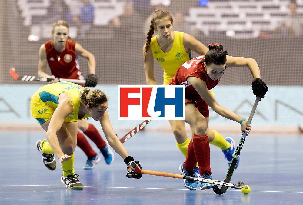 BERLIN - Indoor Hockey World Cup<br /> Quarterfinal 1: Belarus - Australia<br /> foto: NIKITSINA Maryna.<br /> WORLDSPORTPICS COPYRIGHT FRANK UIJLENBROEK