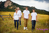 Tanner Pedretti Senior High School portrait and family photo: Jen, Todd, Tanner and Evan at Chautauqua Park in Boulder, Colorado on Sept 8, 2013.<br /> By: Marie Griffin Dennis<br /> mariefgriffin@gmail.com<br /> mariegriffinphotography.com
