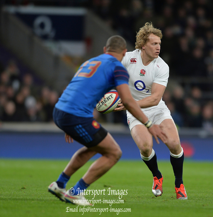 Twickenham, Great Britain, Billy TWELVETREES , during the Six Nations Rugby England vs France, played at the RFU Stadium, Twickenham, ENGLAND. <br /> <br /> Saturday   21/03/2015<br /> <br /> [Mandatory Credit; Peter Spurrier/Intersport-images]
