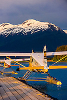 Alaska Seaplanes planes at seaplane base, Juneau International Airport, Juneau, Inside Passage, Southeast Alaska USA.