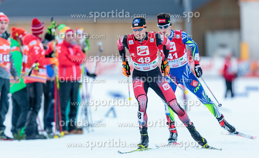 20.12.2015, Nordische Arena, Ramsau, AUT, FIS Weltcup Nordische Kombination, Langlauf, im Bild Bernhard Gruber (AUT) // Bernhard Gruber of Austria during Cross Country Competition of FIS Nordic Combined World Cup, at the Nordic Arena in Ramsau, Austria on 2015/12/20. EXPA Pictures © 2015, PhotoCredit: EXPA/ JFK