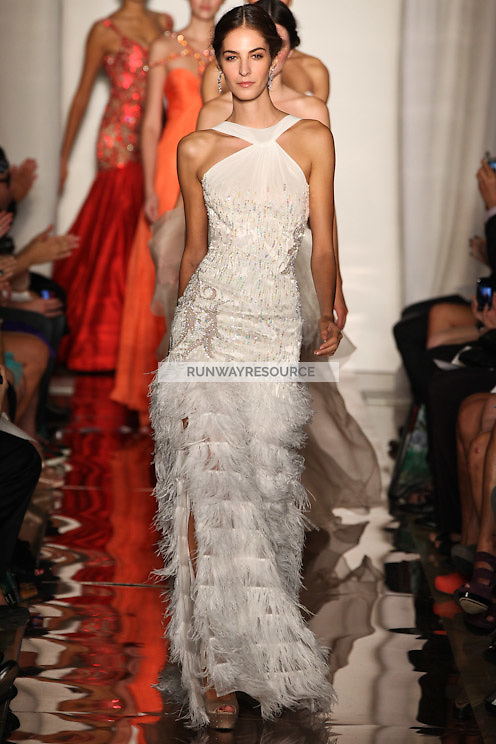 87cbb6a63a Emina Cunmulaj walks the runway wearing Sherri Hill collection during  Mercedes-Benz Fashion Week in