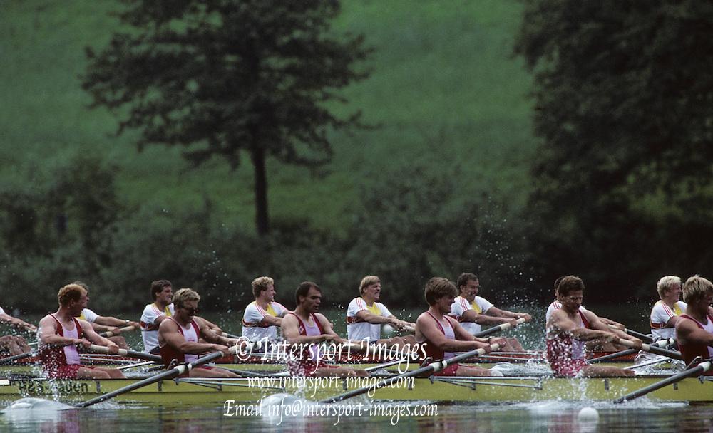Lucerne, SWITZERLAND GER M8+ 1992 FISA World Cup Regatta, Lucerne. Lake Rotsee.  [Mandatory Credit: Peter Spurrier: Intersport Images] 1992 Lucerne International Regatta and World Cup, Switzerland