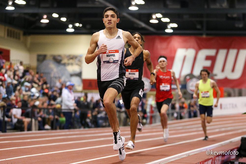 2020 USATF Indoor Championship<br /> Albuquerque, NM 2020-02-14<br /> photo credit: © 2020 Kevin Morris<br /> mens 800m heats, adidas