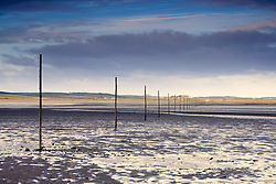 July 21, 2019 - Poles In Water, Near Holy Island, Bewick, Northumberland, England (Credit Image: © John Short/Design Pics via ZUMA Wire)