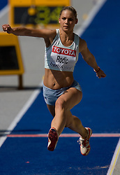Snezana Rodic  of Slovenia competes in the women's triple jump qualifying event of the 2009 IAAF Athletics World Championships on August 15, 2009 in Berlin, Germany. (Photo by Vid Ponikvar / Sportida)