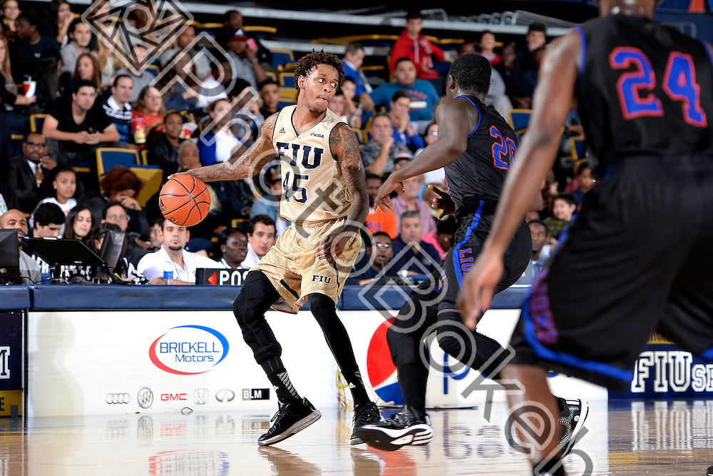 2014 November 21 - FIU's Kris Gulley (45). <br /> Florida International University defeated Florida Memorial, 74-48, at US Century Bank Arena, Miami, Florida. (Photo by: Alex J. Hernandez / photobokeh.com) This image is copyright by PhotoBokeh.com and may not be reproduced or retransmitted without express written consent of PhotoBokeh.com. &copy;2014 PhotoBokeh.com - All Rights Reserved