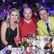 Larissa Eddie, Philip Baldwin and John Galea attend The Music Producers Guild Awards at Grosvenor House, Park Lane, on 27th February 2020, London, UK.
