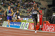 Timothy Cheruiyot (Kenya) beating Jakob Ingebrigtsen (Norway) in the Men's 1500m during the IAAF Diamond League event at the King Baudouin Stadium, Brussels, Belgium on 6 September 2019.