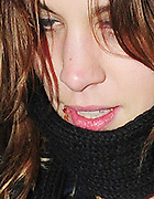 22.FEB.2009 - LONDON<br /> <br /> ALEXA CHUNG LEAVING THE OLD DERRY, HOLBORN WHERE SIENNA MILLER AND SISTER SAVANAH HELD THERE FASHION LABEL TWENTY 8 TWELVE'S FIRST CATWALK SHOW AT LONDON FASHION WEEK. ALEXA WAS COVERING HER FACE WITH A BIG SCARF TRYING NOT TO REVEAL THE BIG COLDSORE ON HER LIP.<br /> <br /> BYLINE MUST READ : EDBIMAGEARCHIVE.COM<br /> <br /> *THIS IMAGE IS STRICTLY FOR UK NEWSPAPERS & MAGAZINES ONLY*<br /> *FOR WORLDWIDE SALES & WEB USE PLEASE CONTACT EDBIMAGEARCHIVE-0208 954 5968*