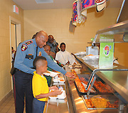 Twice a month, HISD officers eat lunch with students who have shown strong character.  During the lunch the officers will also serve as role models by showing students how to be good leaders.
