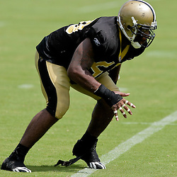 01 August 2009: New Orleans Saints linebacker Jonathan Vilma (51) during New Orleans Saints training camp at the team's practice facility in Metairie, Louisiana.