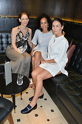 Left to right, MARIA GRACHVOGEL, JEANETTE CALLIVA and CINDY BILTON at a ladies lunch at Toto's, Walton Street, London on 12th June 2014.