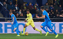 January 12, 2019 - Valencia, Valencia, Spain - Samu Chukwueze of Villarreal and Antunes of Getafe during the La Liga Santander match between Villarreal and Getafe at La Ceramica Stadium on Jenuary 12, 2019 in Vila-real, Spain. (Credit Image: © AFP7 via ZUMA Wire)