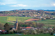 Frühling Landschaft Vogelsberg, Hessen, Deutschland