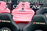 Suzuki/Errea sponsored training bib during the Sky Bet Championship match between Milton Keynes Dons and Queens Park Rangers at stadium:mk, Milton Keynes, England on 5 March 2016. Photo by Dennis Goodwin.