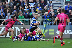 Max Northcote-Green of Bath Rugby runs in a try - Photo mandatory by-line: Patrick Khachfe/JMP - Mobile: 07966 386802 01/11/2014 - SPORT - RUGBY UNION - Bath - The Recreation Ground - Bath Rugby v London Welsh - LV= Cup