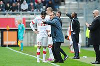 Leonardo JARDIM / Yannick FERREIRA CARRASCO - 26.04.2015 - Lens / Monaco - 34eme journee de Ligue 1<br /> Photo : Nolwenn Le Gouic / Icon Sport