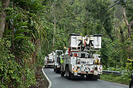 March 25, 2018, Vega Alto,  Puerto Rico, USA: APS crews fixing electric wires in Vega Alto 6 months after Hurricane Maria.