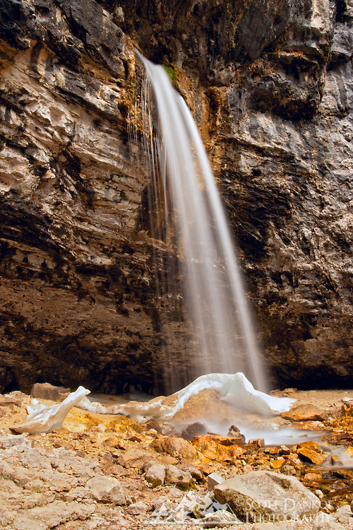 Spouting Rock Falls which is above Hanging Lake, about 10 miles east of Glenwood Springs, Colorado.