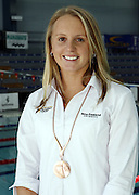 Helen Norfolk with her medal from the Commonwealth Games at the 2006 New Zealand Youth and Open Swimming Championships at QEII Leisure Centre, Christchurch on Friday 14 April 2006. Photo: Simon Fergusson/PHOTOSPORT