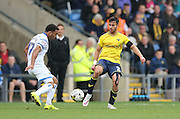 Oxford United defender George Baldock (2) in action during the Sky Bet League 2 match between Oxford United and AFC Wimbledon at the Kassam Stadium, Oxford, England on 10 October 2015.
