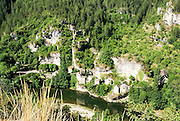Gorges du Tarn is a canyon formed by the Tarn River, Provence, France