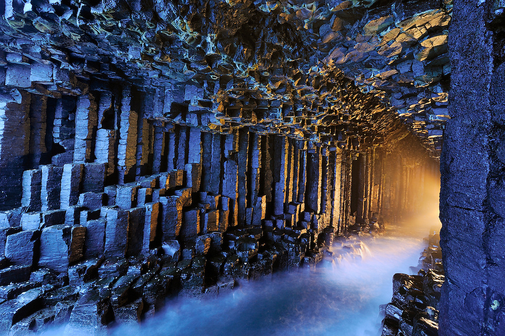 Staffa is the island of volcanic basalt columns on the west coast of the Isle of Mull, made famous by Fingal's Cave.  To buy this print click on the SHOPPING CART below.
