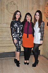 ARLENE PHILLIPS and her daughters ALANA and ABI at Cirque du Soleil's VIP night of Kooza held at the Royal Albert Hall, London on 8th January 2013.